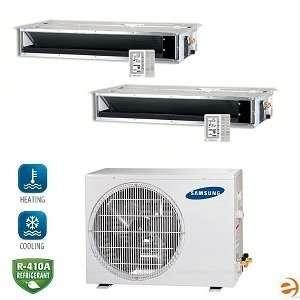 MH050FXCA2A+MH026FECAx2 Dual Zone Concealed Ceiling Mini Split Heat P