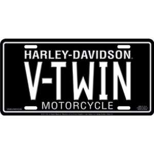 Chroma Graphics Harley Davidson V Twin Stamped Metal Tag