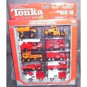 Tonka BIG 10 GREAT ADVENTURE VEHICLES Playset 2004 RED/ORANGE Vehicles