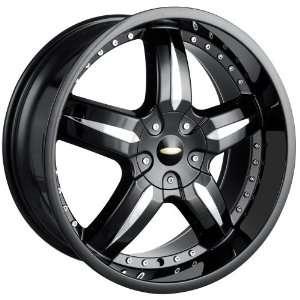 18x7.5 Baccarat Sync (1140) (Black) Wheels/Rims 4x100/114.3 (1140B