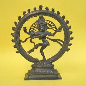 HANDTOOLED HANDCRAFTED BRASS ANTIQUE NATRAJ STATUE!! Home