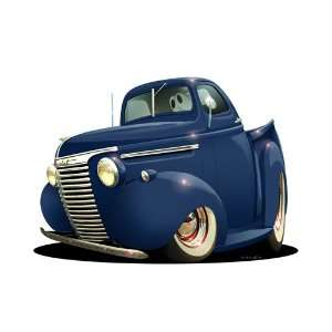 24 DB 1940 Chevy Pickup Truck Cartoon Car Wall Graphic Decal Vinyl