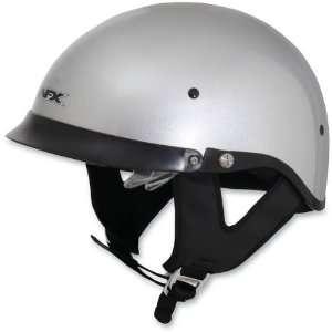 AFX FX 200 DUAL LENS MOTORCYCLE HALF HELMET SILVER 2XL