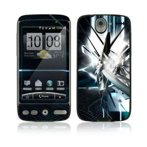 HTC Desire Skin Decal Sticker   Abstract Tech City
