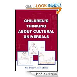 Childrens Thinking About Cultural Universals: Janet Alleman: