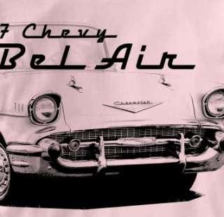 Chevy Bel Air 1957 Classic PINK Chevrolet Ca T Shirt XL