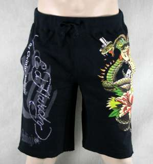 ED Hardy mens lounge SHORTS cobra flower Skull CRUNK