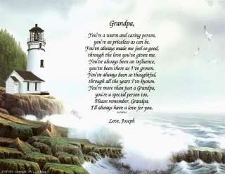 PERSONALIZED GRANDFATHER GRANDPA PRINT FATHERS DAY GIFT