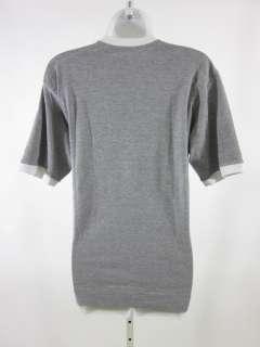 LULU LEMON ATHLETICA Mens Gray Cotton Graphic T Shirt S
