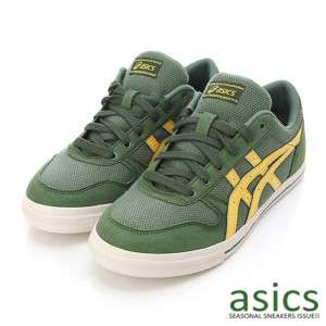 Brand New ASICS AARON CV Shoes Olive Yellow #8
