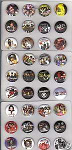 36 METAL TOKIO HOTEL BUTTONS PIN BADGES SMALL