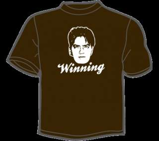 CHARLIE SHEEN WINNING T Shirt MENS ANY SIZE/COLOR funny