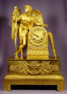 Ultimate Signed Circa 1800 Gilt Bronze Angel Clock