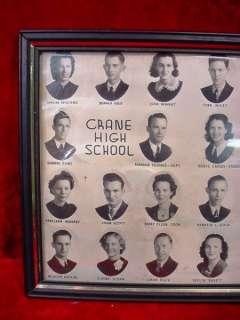 Antique 1939 CRANE HIGH SCHOOL CLASS PHOTOGRAPH Texas