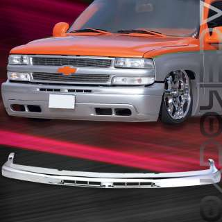 99 00 01 02 CHEVY SILVERADO 1500 1PC UPPER FRONT CHROME BUMPER