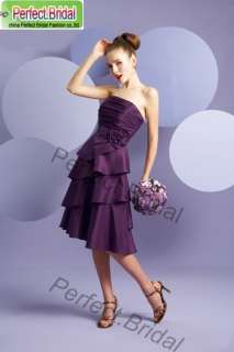 Party Cocktail Homecoming Bridesmaid Dress Wedding Gown Bridal Evening