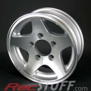 12X4 5/4.5 (5 Bolt) Aluminum 5 Star Trailer Wheel