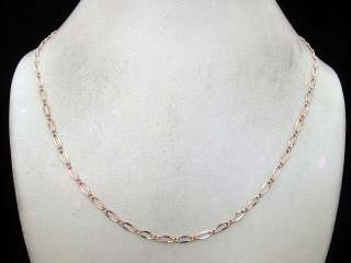 PRETTY ROSE GOLD FILLED 14K NECKLACE   CHAIN COD 199