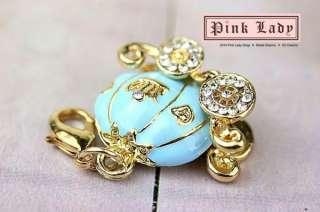 J152 Cute Blue Princess Carriage Charm Pendant (1piece)