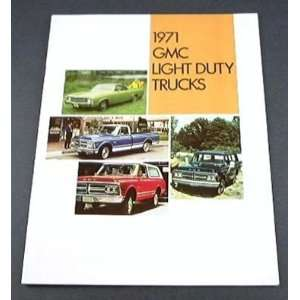 1971 71 GMC Light Duty TRUCK BROCHURE 1500 Pickup Jimmy