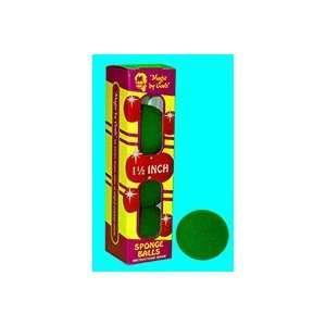 Sponge Balls 1.5 GREEN   Close Up / Magic Trick Toys & Games