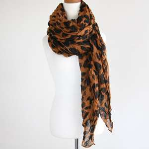 Womens viscose long scarf zebra leopard print shawl
