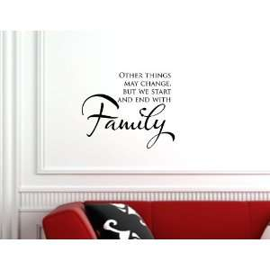 Home Decorating on With Family Vinyl Wall Quotes Stickers Sayings Home Art Decor Decal