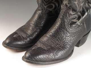 Lama Cowboy Western Black Leather Boots Style 6903 Size 10D