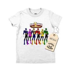 Power Rangers Samurai Custom T shirt