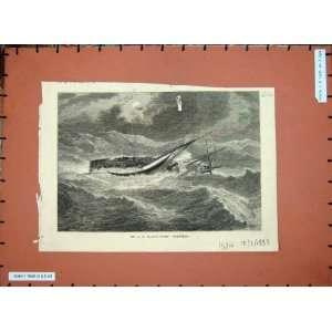 1883 Mr S.R Platt Yacht Norseman Ship Boat Sea Art Home & Kitchen