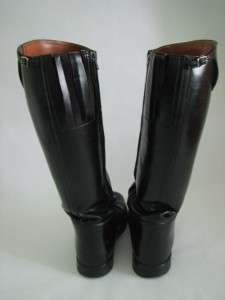 Dehners 11D Black Leather Police Motorcycle Boots