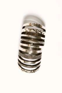 NEW Silver ARMOR Cage Finger HINGE KNUCKLE Double RING