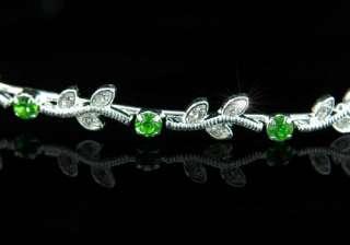 Bridal Green Crystal Rhinestone Headband Tiara T1238