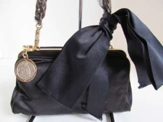 Black Satin Bag/Handbag/Purse/Clutch/Shoulder Bag/Ret. $1,260