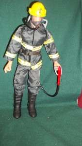 1996 LANARD GI JOE 12 INCH ARMY ACTION FIGURE LOOSE IN FIREMAN GEAR