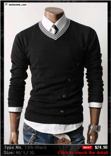 DOUBLJU Mens Casual Best Knit Sweaters Collection