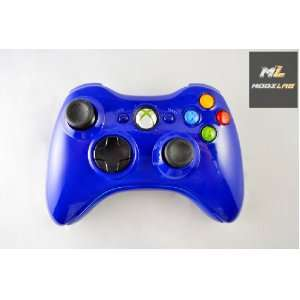 Glossy Blue Xbox 360 Controller Electronics