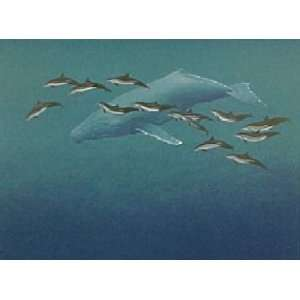 Richard Ellis   Humpback Whale and Spinner Dolphins: Home