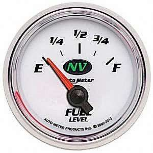 Auto Meter 7313 NV Short Sweep Electric Fuel Level Gauge