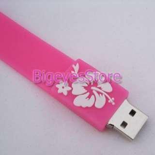 Pink 4GB Bracelet USB Flash 2.0 Memory pen Stick Drive