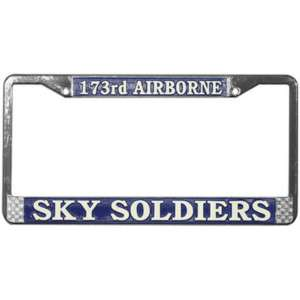 173rd AIRBORNE SKY SOLDIER Military License Plate Frame