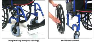 Roll Mobility GT Aluminum Wheelchair 18 Seat Quick Release Wheels