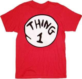 THING 1 DR SEUSS CAT IN THE HAT Funny Kids Red T Shirt