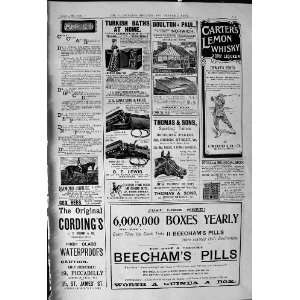 1900 Advertisement Beechams Pills Carters Lemon Whisky