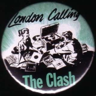 THE CLASH SINGLES LONDON CALLING 1 pin button badge magnet PUNK
