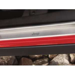 Wrangler 2007 2012 Brushed Stainless Door Sill Protectors Mopar OEM