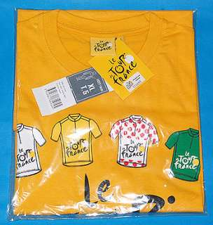 TOUR DE FRANCE 2010 Authentic Official Yellow T shirt Logo & 4 Jersey