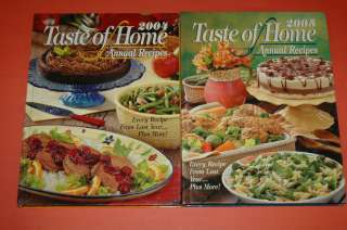 Lot 5 Taste of Home Annual Recipes 2001,02, 03, 04, 05