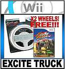EXCITE TRUCK RACING GAME FOR THE NINTENDO Wii + 2 RACING WHEEL