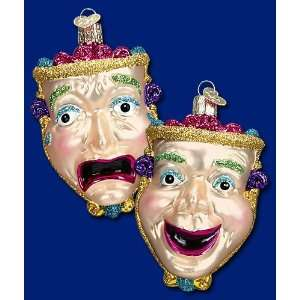 Old World Christmas Comedy & Tragedy Mask Theater Glass
